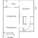 1 Bedroom 1 Bath with Washer/Dryer Connections