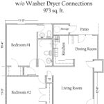2 Bedroom 1.5 Bath Garden Apartment without Washer/Dryer Connections