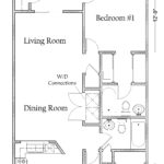 2 Bedroom 2 Bath Apartment with Washer/Dryer Connections